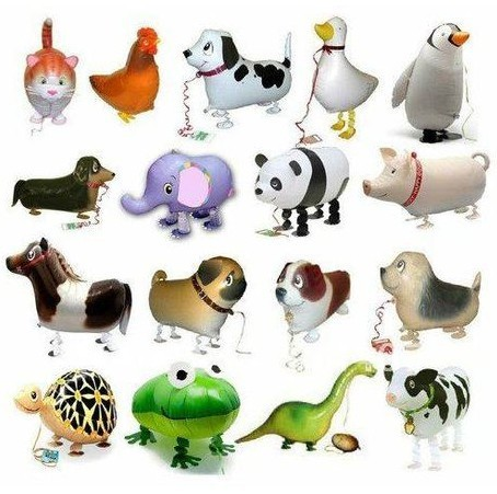 20 Pcs/Lot New Arrival Wholesale Various Aluminum Foil Helium Walking Animal Pet Balloons Baby's Toy & Gift Balloon(China (Mainland))