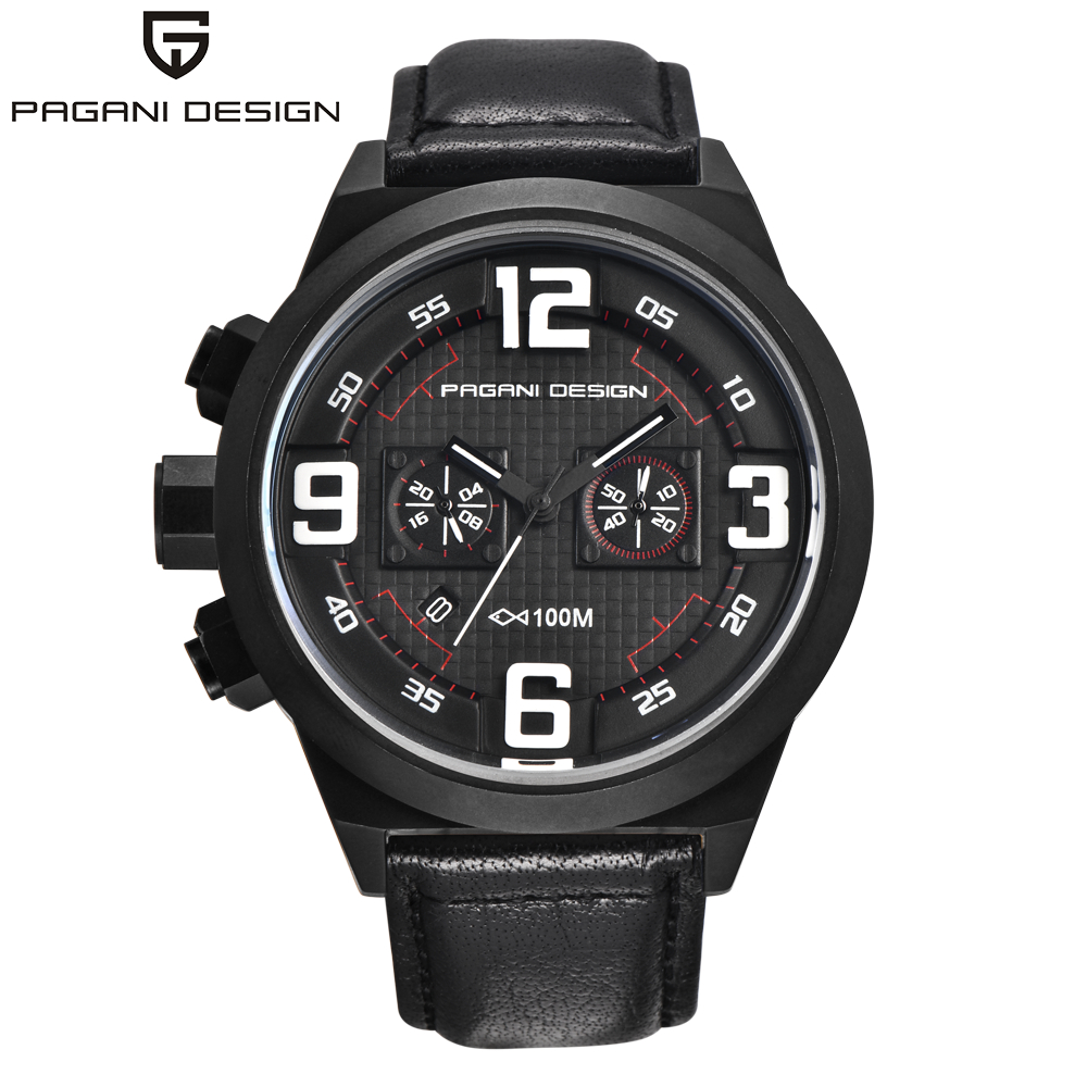 PAGANI DESIGN Brand Sport Military Watches Big Dial Design waterproof 30m Chronograph Date Quartz Mens Watch Relogio Masculino<br><br>Aliexpress