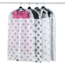 Non - woven dust coat Coat Suit clothing hanging bag dust bag transparent(China)