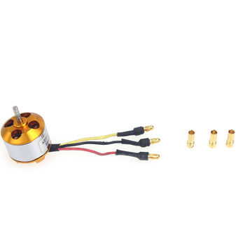 F02015-AB A2212 1000KV Brushless Outrunner Motor W/ Mount with 3 Pairs 3.5MM Banana Plug ( Male and Female) Soldered for Quad FS