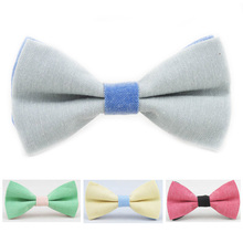 Fashion Double Color Kids Bow Tie Cute Baby Bowtie flower Girl Accessory Cotton Child Bow Candy Colors Tuxedo Boy Butterfly Ties(China)
