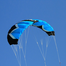 2Sqm Stunt Kite Quad Lines Parafoil Parachute Traction Kite Sport Power Kite with 55CM Bar Flying Line(China)
