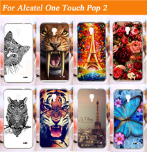 New pattern Fashion colored animals cell Phone Case For Alcatel one touch Pop 2 M5 5042X 5042D 5042A 5042W 5042