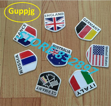3D Aluminum car Flag stickers American Italy Russia France Germany England Australia Badge Emblem Decal Auto car styling sticker