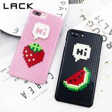 LACK Block Toy DIY Phone Case For iphone 7 Case Funny Handmade Plastic Cover 3D Cartoon Cases For iphone 7 Plus Coque Best Gifts(China)