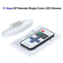 100pcs Single Color LED Dimmer Controller 11keys Mini RF Wireless Remote Control For SMD 3528 5050 5730 LED Rigid Strip
