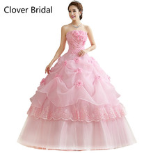 e47a7c8b5c6 Quinceanera Dresses Cheap Organza Red Pink White Floor Length Cheap Quinceanera  Gowns Sweet 16 Dresses Vestido