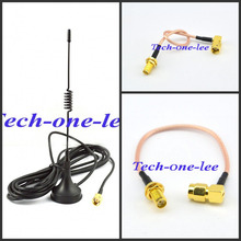 GSM Antenna 433Mhz 5dbi SMA Plug Connector Straight +SMA Male to SMA Jack Female pin Connector 15cm RG316 Pigtail Cable(China)