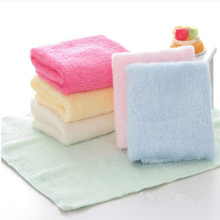 6 Pcs Children 2017 Hot Sale Hand Towel Bamboo Baby Towel 25x25cm Face Towels  Care Wash Cloth Kids Hand Towel For Newborn J-01A