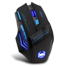2016 Adjustable For Pro Gamer 2400DPI Optical Wireless Gaming Mouse Gamer For Laptop PC Computer accessories Top quality #ZLY503(China)