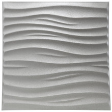 3D Leather Wall Sticker Peel and Stick 3D Textured Wall Covering PU Material Panels Wave Wall 23.6''x23.6''