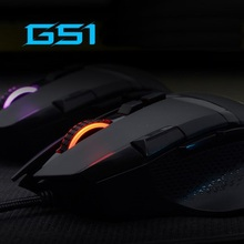 FL-Esports G51 USB Wired Competitive Gaming Mouse Macro Programming 16.8 Million Color Adjustable Dazzling Light