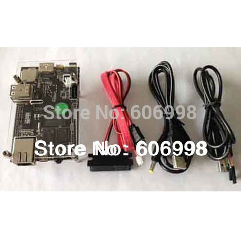 Cubieboard Kit 1GB ARM Cortex-A8 Development Board Allwinner A10+SATA Cable+Power supply Cable+USB to TTL Cable+Case(China (Mainland))