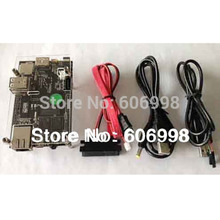 Cubieboard Kit 1GB ARM Cortex-A8 Allwinner A10 Development Board+SATA Cable+Power Supply Cable+USB to TTL Cable+Case(China)