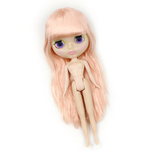 blyth doll normal body,Bangs hairstyle Pink hair 230BL2428-05,transparent face plate, factory blyth doll girl doll bjd toys
