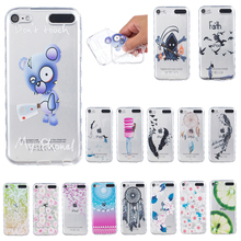 For Apple iPod Touch 5 / 6 Case Cute Silicone Back Phone Cover for iPod Touch6 Touch5 Fashion Transparent Soft TPU Cases