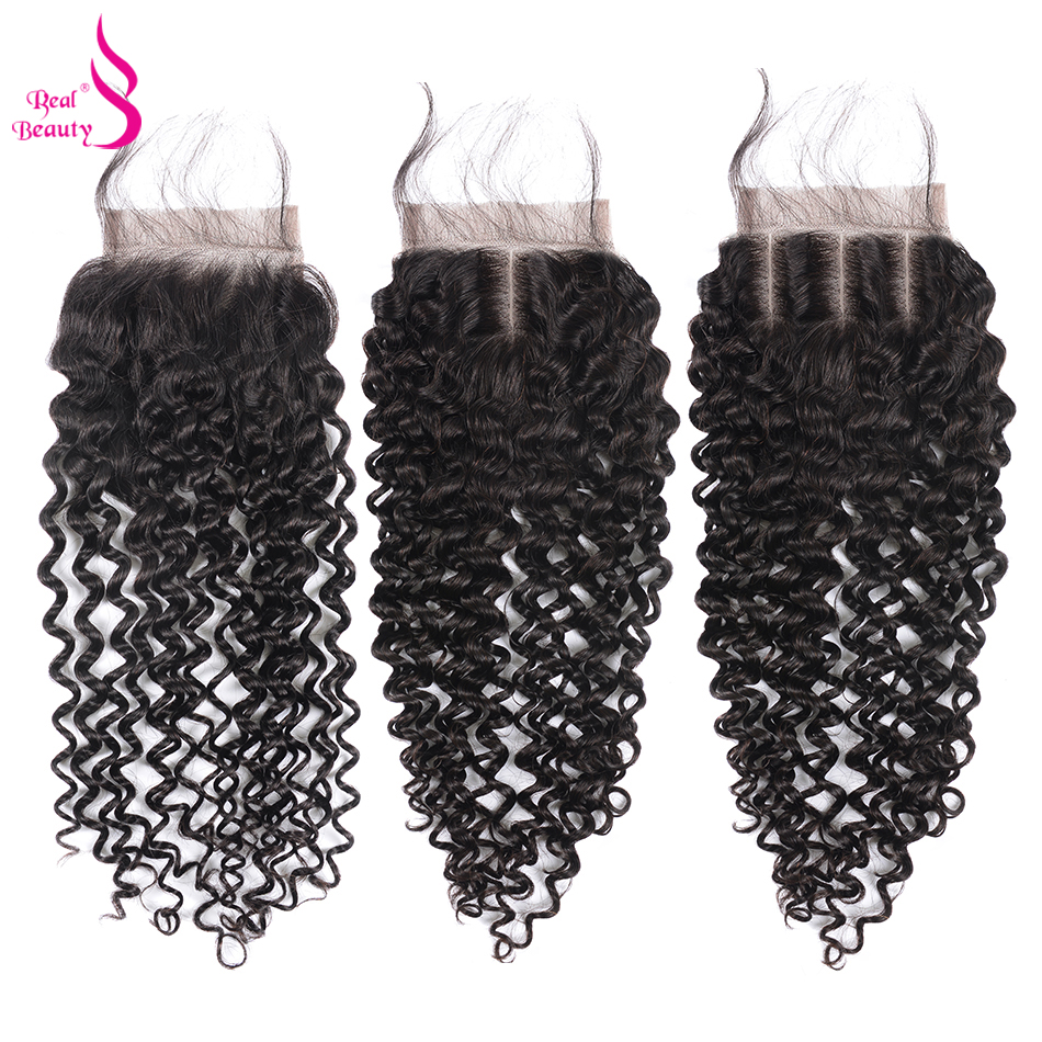 Mongolian Afro Kinky Curly Hair With Closure 100% Human Hair 3 Bundles With Lace Closure Real Beauty Remy Hair Bundles