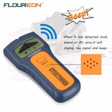 Floureon 3 In 1 Stud Finder Wire Metal Wood Detectors Find AC Voltage Live Wire Detect Wall Scanner Behind Wall With LCD Display