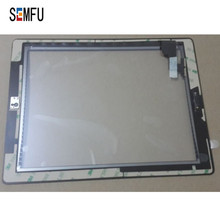 (Black) Touch Panel for ipad2 digitizer touch screen+Home Button Assembly+3M Adhesive+camera holder   A1395  A1396  A1397