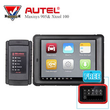 "100% Original Autel MaxiSys Mini MS905 Diagnostic Analysis System with 7.9"" Screen with XTOOL X100 PAD auto key programmer Tools"