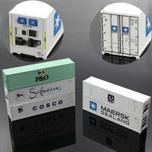 40ft Hi-Cube Refrigerater Shipping Container Freight Cars HO Scale lot model truck C8722  railway modeling