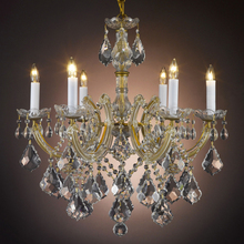Modern Classic Maria Theresa Crystal Chandelier Hanging Lighting LED Lamp Cristal Glass Chandeliers Light for Home Hotel Decor(China)