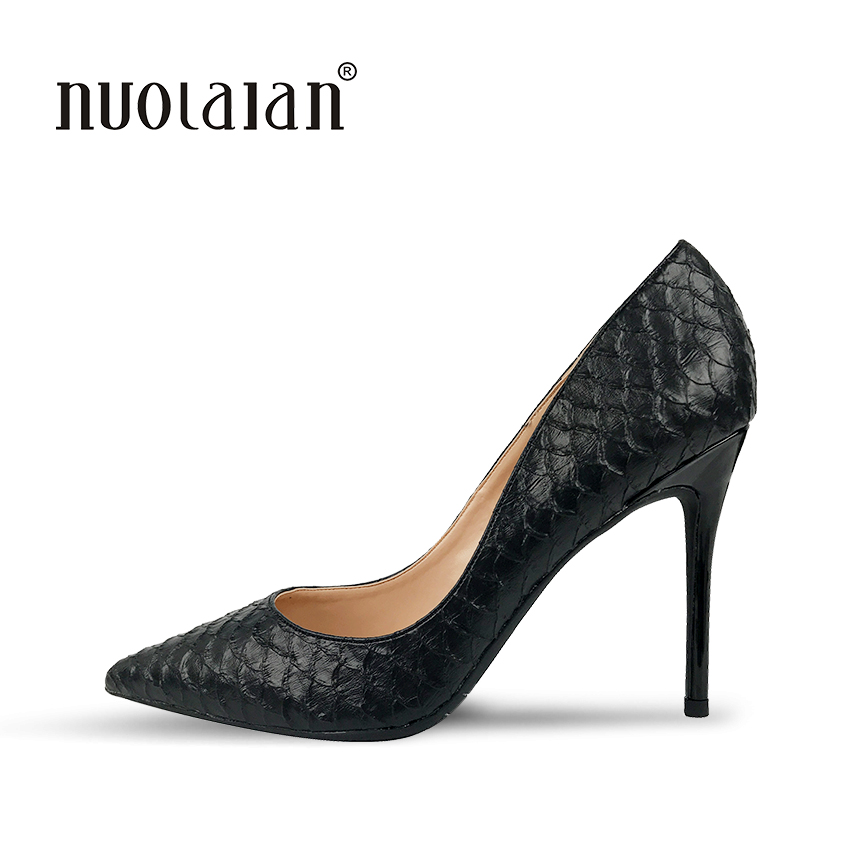 2018 Brand fashion women pumps 10cm high heel pumps shoes for women sexy pointed toe high heels party wedding shoes woman<br>