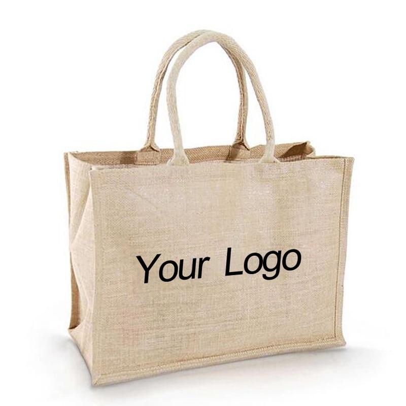 comercio al por mayor unidslote logotipo de la empresa impreso de arpillera
