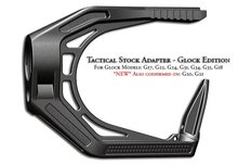 Tactical TSA TSA-G stock adapter glock edition G17, G22, G24, G31, G34, G35, G18 AR-15/ M16/ M4 Black