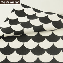 Teramila Fabrics Black and Whited Sector Designs Cotton Fabric Twill Fat Quarter Bedding Curtain Pillow Dress Home Textile(Китай)