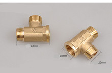 "1/2"" BSP Female x 1/2"" BSP  Male Thread Tee Type 3 Way Brass Pipe Fitting Adapter Coupler Connector For Water"
