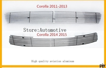 for Toyota Corolla 2014 2015 Racing Grills Bonnet, front grille suitable aluminum material products Accessories