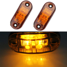 2pcs Red white 24v led side marker light for truck amber clearance lamp 12v trailer side marker led signal Lights for cars Truck