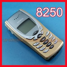 One Year warranty 8250 Mobile Phone Original Nokia 8250 Cheap Phone Gold + battery + charger + gift(China)