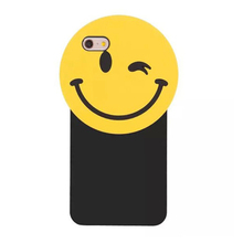 2017 Fashion korea cartoon yellow smile phiz big face soft silicone cell phones case For Iphone5 5s se/6 6s/6plus 6splus/7/7plus