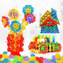 150pcs Snowflakes Model Building Block DIY Snowflake For Kid Baby Early Educational Toys Head Start Training
