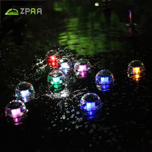 ZPAA 2pcs/Lot Practical Garden Pool Floating Solar Powered Lamps LED Lamp For Garden Pond Fountain Landscape Solar Night Light(China)