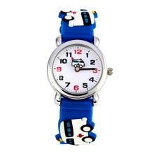 Fashion For kids silicone sports  watch for children 3D cartoon ambulance watches