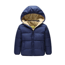 Kids Winter Jackets 2016 New Style Solid Hooded Baby Girls Boys Cotton Thincken Coats infant Outerwear Jacket Clothes 1-4 Years