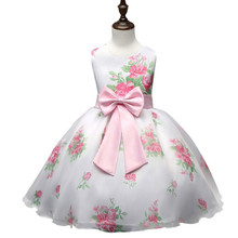 Summer Brand Girls Clothes Princess Flower Girl Wedding Dress Toddler Girl Party Wear Children Frocks Designs 2017 Kids Clothes