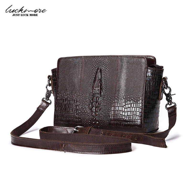 2017 Genuine Leather Women Messenger Bags Alligator Cowhide Vintage Woman Shoulder Crossbody Bags For Women High Quality<br>