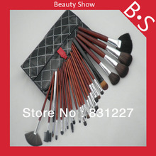 24pcs Professional Synthetic Cosmetic Brush Set,Wholesale Price Synthetic Cosmetic/Makeup Brush Set,Excellent Leather Bag