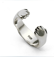 Super adorable kitty cat claw ring Cat lion Cat's Claw Ring 925 silver ,