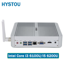 Hystou FMP03 6th Gen Core i5 6200U i3 6100U Business Barebone Mini PC Win10 3Year Warranty Linux TV Box 4K HD 300M WiFi HDMI+VGA(China)