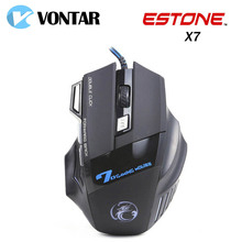 [Genuine] ESTONE X7 Professional Mice 7 Buttons Gaming Mouse 3200DPI LED Optical USB Wired Computer Mouse Gamer Peripherals