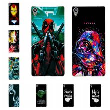 Buy Charming Deadpool Cases Sony Xperia XA Ultra Dual F3212 F3216 iron Man Phone Case Sony F3211 F3215 F3213 C6 Back Cover for $1.39 in AliExpress store