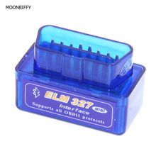 MOONBIFFY Mini ELM327 Bluetooth V2.1 OBD2 Car Diagnostic Tool Mini ELM 327 Bluetooth For Android/Symbian For OBDII Protocols