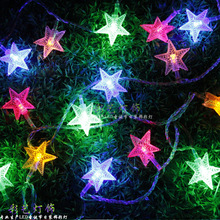 Garland Factory outletsnew Year LED Lights Christmas Decorative Copper Outdoors Waterproof Star Led lights decoration(China)