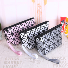 Brand multi-function travel cosmetic bag Flash Diamond Leather Makeup Make Up Wash Tool Organizer Storage bags
