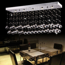 Modern LED Crystal Lamp Restaurant Bedroom Crystal Light K9 Crystal Ball Rectangular Entrance Hallway Ceiling Lights